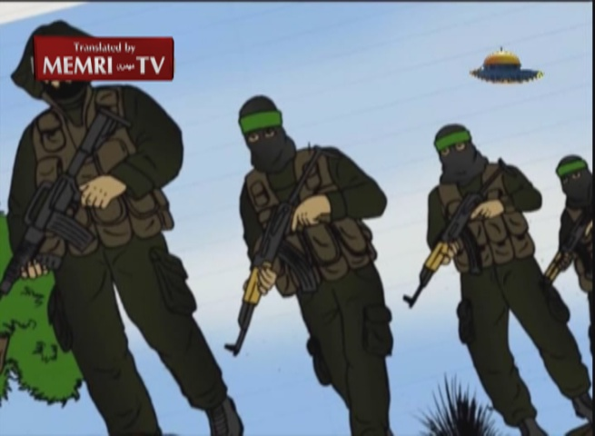 Hamas TV Airs Cartoon Lauding Its Military Wing