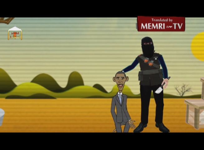 Cartoon Shows Beheading of Obama by ISIS Executioner Jihadi John