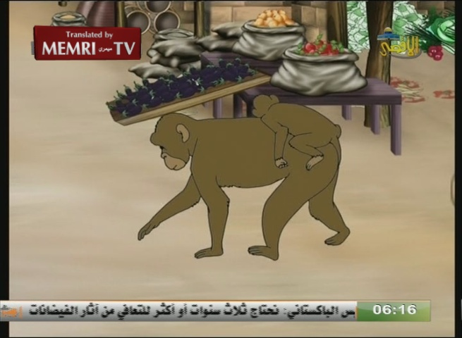 Hamas TV Cartoon Depicts Koran-Based Story of Jews Being Transformed into Apes