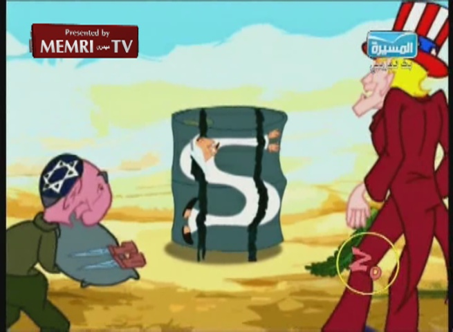 Anti-American Antisemitic Cartoons on Yemeni Houthi TV