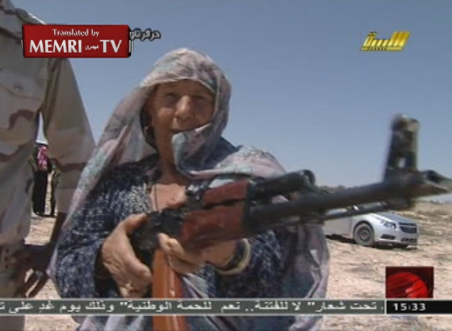 Libyan State TV Reports on Weapons Training Course for Women of All Ages