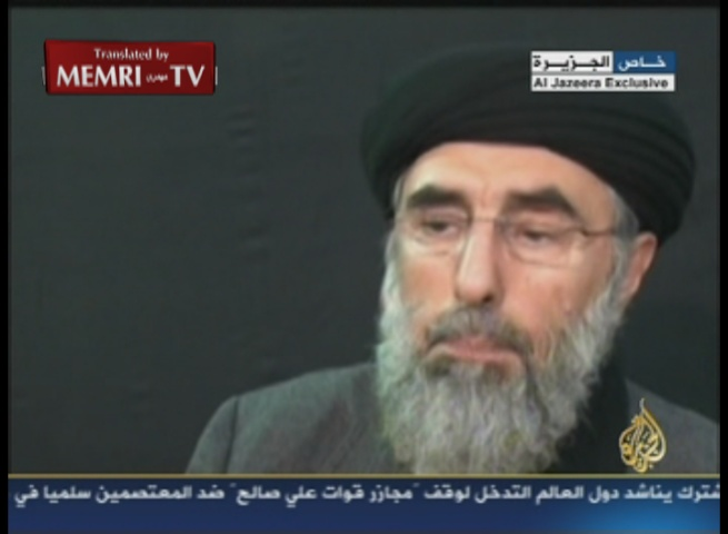Former Afghan PM and Leader of the Islamic Party Gulbuddin Hekmatyar in Response to Bin Laden's Death: The Americans Are