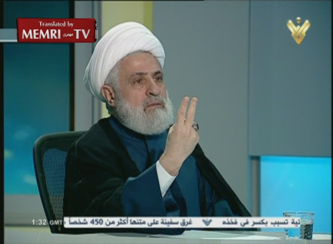 Hizbullah Deputy Sec.-Gen. Sheik Naim Qassem: Despite Losses in Syria, We Are Ready for War with Israel