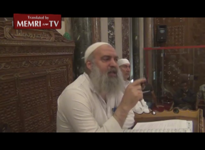Palestinian Cleric at Al-Aqsa Mosque: The Jews Own Half the World's Money, Believe the Pyramids Were Built by Aliens