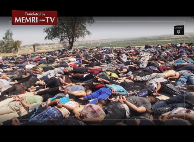 Graphic: ISIS Video Documents July 2014 Massacre at Camp Speicher, Iraq