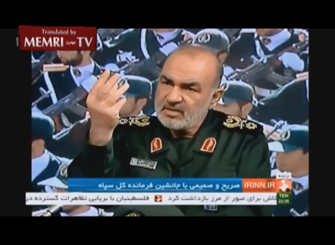 IRGC Deputy Commander Hossein Salami: Our Missiles, Drones Can Target U.S. Aircraft Carriers Anywhere in the Region