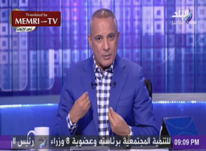 Blooper: Egyptian TV Host Ahmed Moussa Mistakes Video Game Footage for Russian Airstrikes in Syria