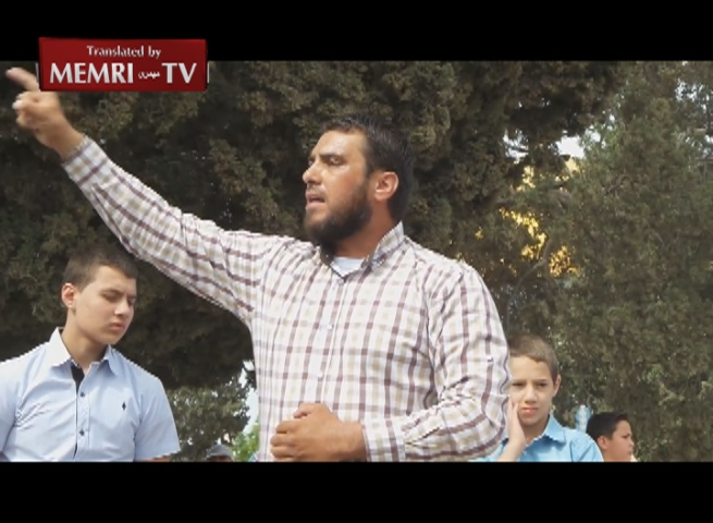 Palestinian Preacher at Al-Aqsa Mosque Rally Calls to Restore the Caliphate, Annihilate the Jews