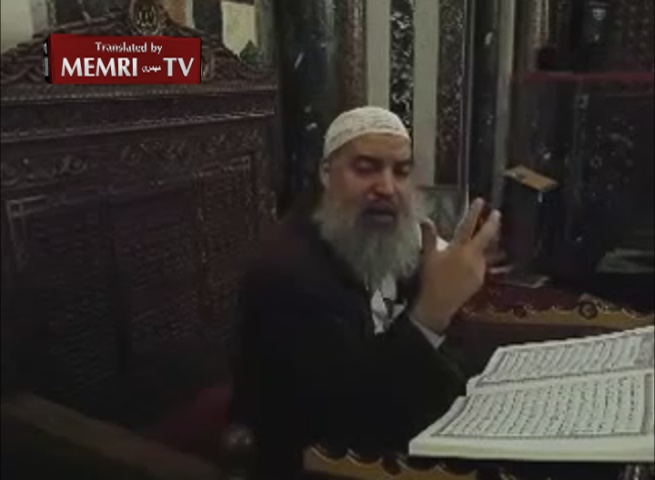 Palestinian Cleric Khaled Al-Maghrabi in Al-Aqsa Mosque Address Discusses Annihilation of the Jews and Virgins of Paradise