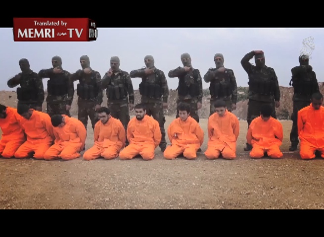 The Levant Front Jihadi Faction Stages Mock Execution of ISIS Prisoners; Preaches Islam Instead of Killing Them
