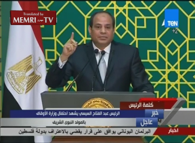 Egyptian President Al-Sisi Congratulates Christians on Christmas: We Are All Egyptians, What Divides Us Destroys Us