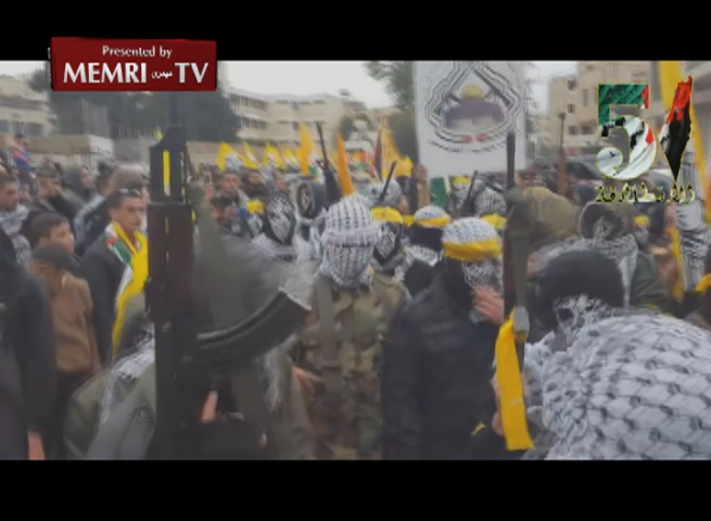 Fatah Holds Military Parade in Bethlehem to Mark Movement's 51st Anniversary