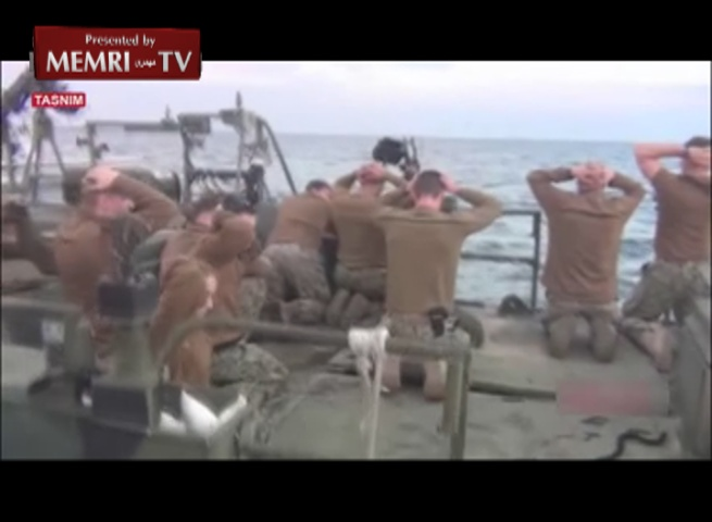 Iranian Media Airs Footage of U.S. Soldiers, Weapons, and Boats Captured by IRGC