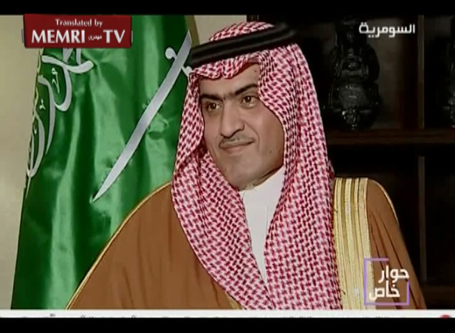 Saudi Ambassador to Iraq Thamer Sabhan Insinuates Iraqi Government Involved in Anti-Sunni Ethnic Cleansing near Iran's Border