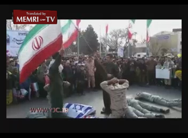 Capture of U.S. Sailors Reenacted in Celebrations of Iran's Revolution Day