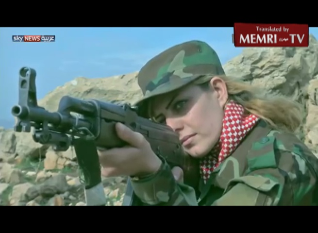 TV Report on Yazidi Women Joining the Combat against ISIS
