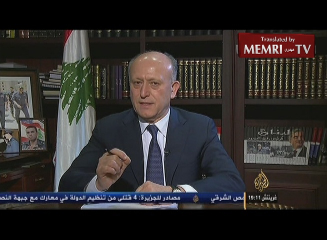 Resigning Lebanese Minister of Justice Ashraf Rifi: Hizbullah and Iran Have Gone Way Too Far in Their Terrorist Practices