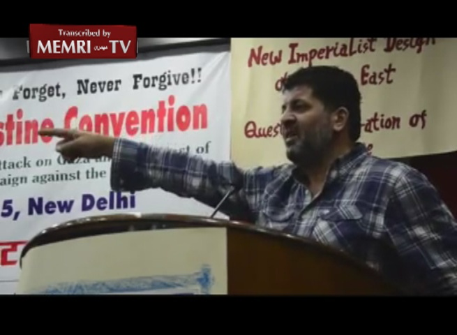 Indian-Palestinian BDS Activist Nasser Barakat: The Creation of Israel Was a Conspiracy, Like 9/11