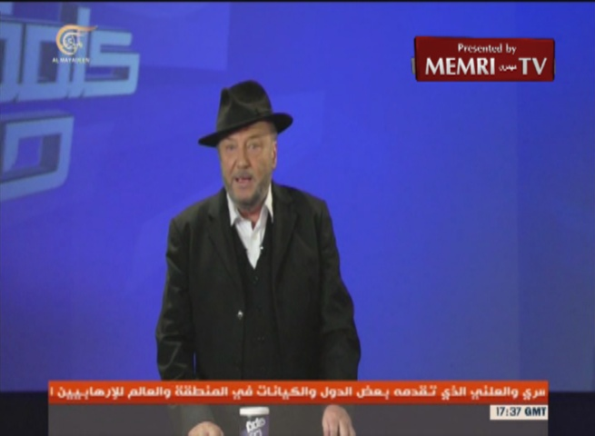 Former British MP George Galloway: Zionism Is the Other Side of the Coin of Antisemitism; MEMRI Harvested Material against Ken Livingstone to Be Held against Him in the Event of a Trial