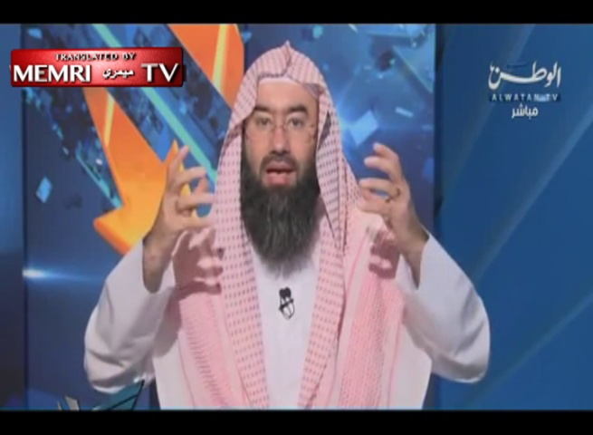Kuwaiti Preacher Nabil Al-Awadi Warns against Jewish Conspiracy in Cartoons, Says: SpongeBob is a Sissy, Sandy a Butch (Archival)