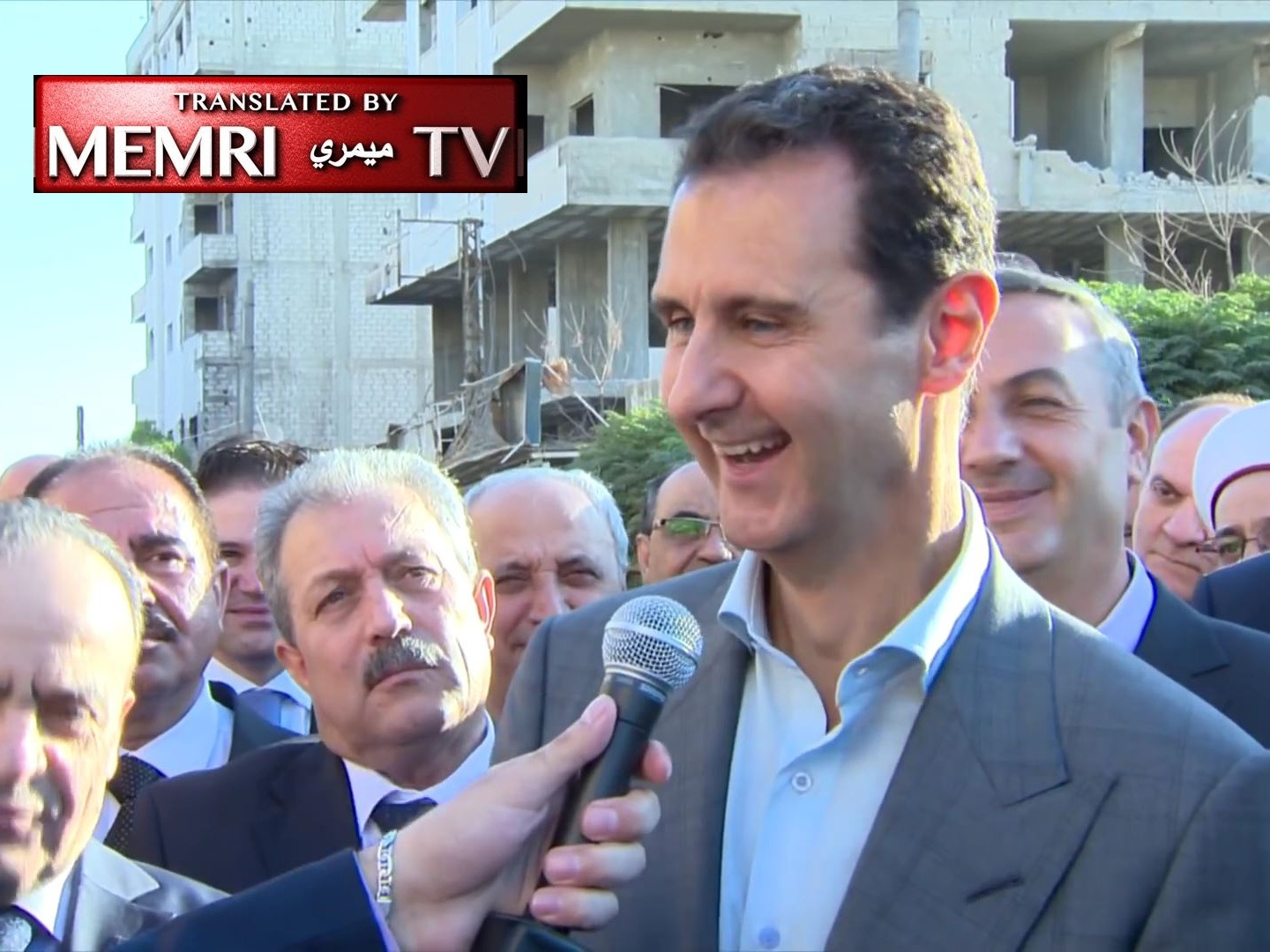 "Syrian President Bashar Al-Assad: We Are on the Right Track; Happy that the West is ""Sad and Vanquished"" in Darayya"