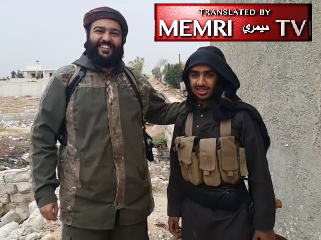 Saudi Jihadi Leader Al-Muhaysini in Aleppo Salutes Mother and Wife of Suicide Bomber before Sending Him to His Death