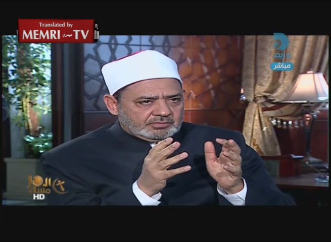"Sheik of Al-Azhar Ahmad Al-Tayyeb: ""The Pope Is Not Bothered When Millions of Muslims Are Killed"""