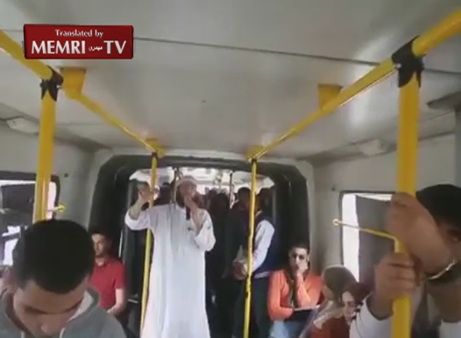 Tunisian Preacher Delivers Sermon on Moving Train Extolling Rewards of Paradise