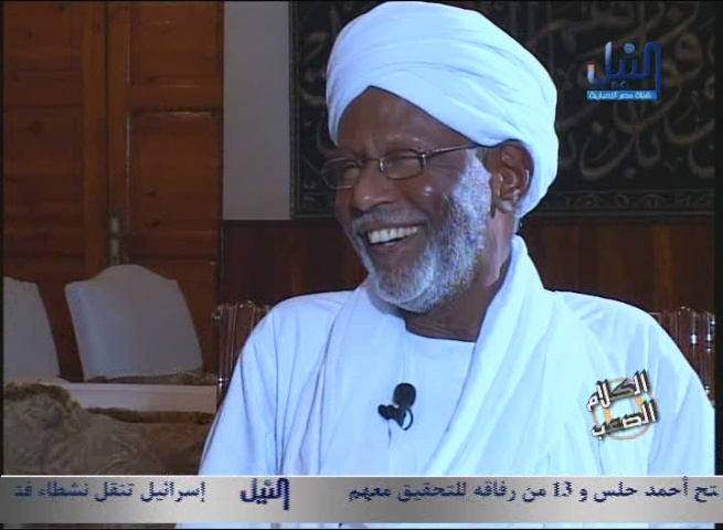 Sudanese Islamist Leader Hassan Al-Turabi: I Support the Arrest of President Al-Bashir to Stand Trial in the International Criminal Court