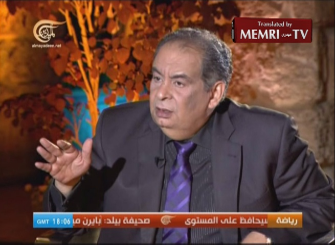 Egyptian Scholar and Novelist Youssef Ziedan: Bin Laden Was a Poor Guy, Incapable of Pulling Off 9/11