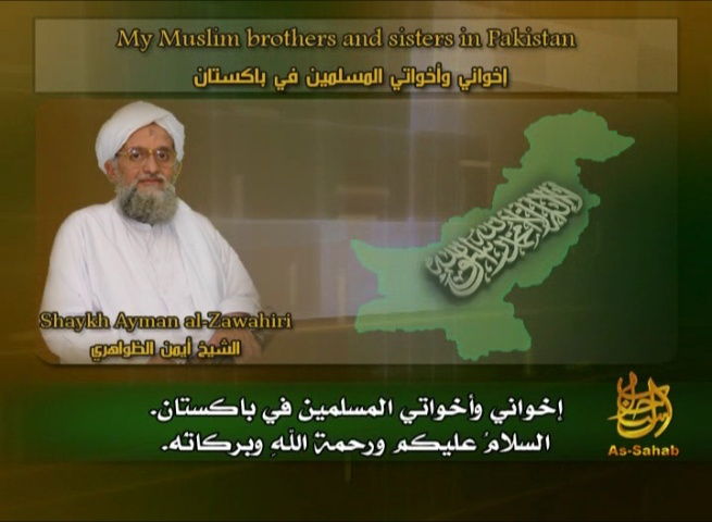 Ayman Al-Zawahiri Appeals to Pakistanis to Wage Jihad