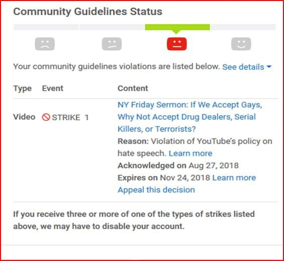 YouTube Censors MEMRI, Removing – For 'Inappropriate Content