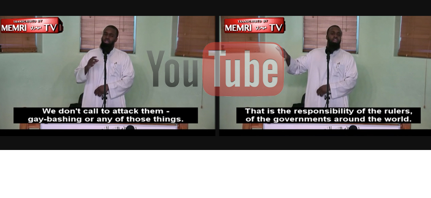 YouTube Censors MEMRI, Removing – For 'Inappropriate Content' – MEMRI TV Clip Exposing Anti-Gay Statements By Sheikh Abu Abdillah In Queens, N.Y.