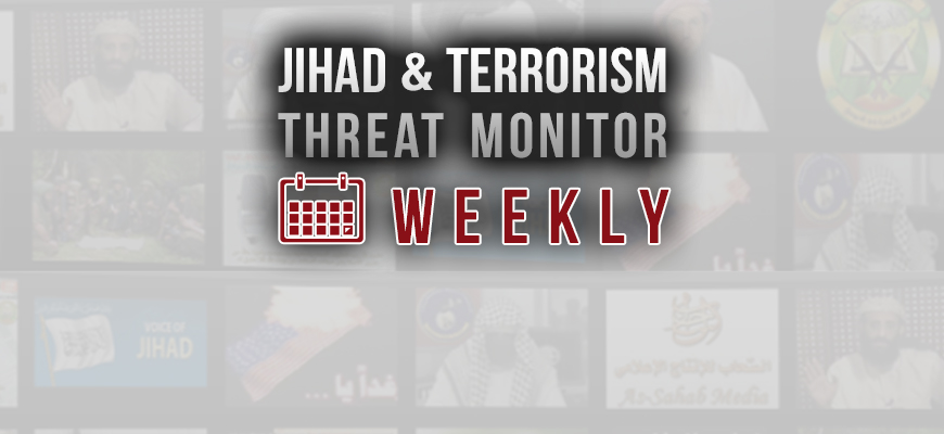 Jihad and Terrorism Threat Monitor (JTTM) Weekend Summary: Week of November 2-9, 2019