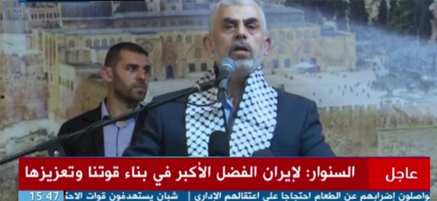 Hamas Leader Yahya Sinwar: We Have Hundreds Of Kilometers Of Underground Tunnels, Thousands Of Traps, Thousands Of Anti-Tank Missiles; We Will Crush Tel Aviv