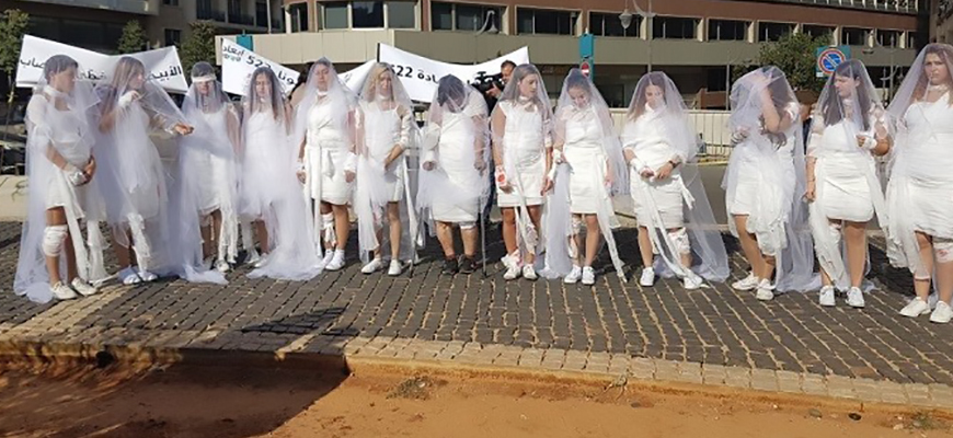 Campaign In Lebanon Against Law Exempting Rapists From Punishment If They Marry Their Victim: 'A White [Dress] Does Not Cover Up Rape'