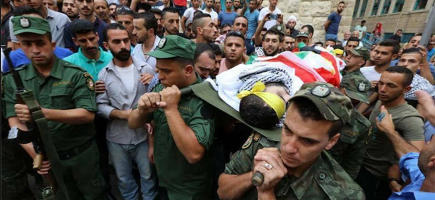 Palestinian Authority Holds Military Funeral For Terrorist