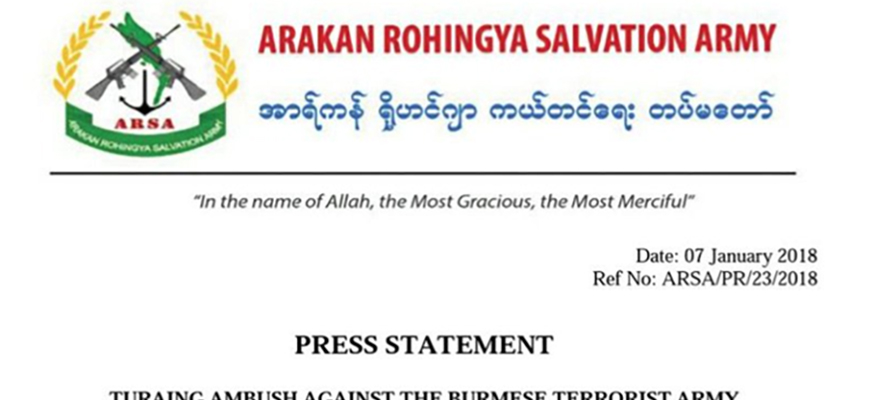 Rohingya Militant Group Arakan Rohingya Salvation Army (ARSA) Says 'No Option But To Fight' Against Burmese Army
