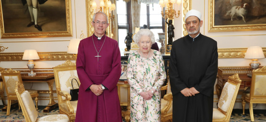 Egypt's Al-Azhar Sheikh Al-Tayyeb, In Official U.K. Visit, Meets With Queen, Archbishop Of Canterbury, Discusses Interfaith Coexistence: Al-Tayyeb's Antisemitic, Anti-Christian, Anti-Shi'ite, Anti-Gay Statements From The MEMRI Archives