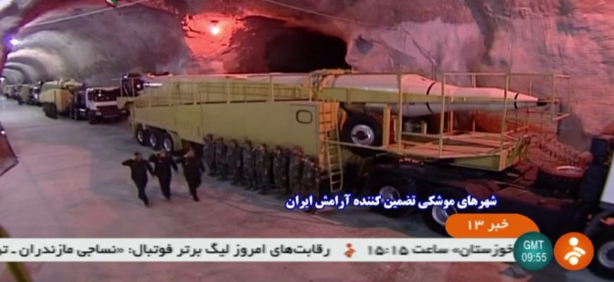 Iranian TV Report On Underground 'Missile Cities': Ballistic Missiles Ready To Launch 24/7, Some Aimed At U.S. Aircraft Carriers
