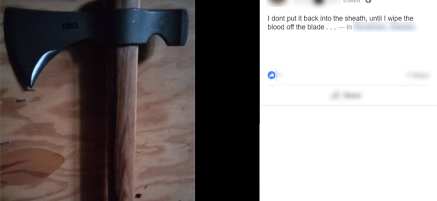 Antisemitic Online Incitement – Account Review: Facebook And GAB User Posts Antisemitic Content, Covertly Photographs Orthodox Jews, Posts Their Photos And Photos Of Axe; Writes: 'I Wanna Kill'