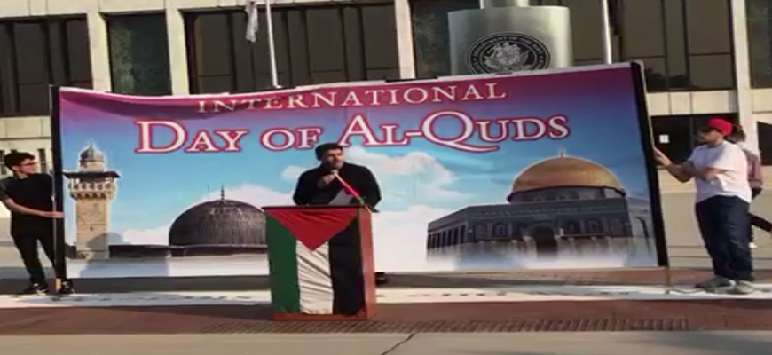 Quds Day Rally In Dearborn, Michigan: Israel Is A Cancer, Will Crumble In Less Than 25 Years As Our Leader Khamenei Calculates; U.S. Government, Politicians Are Satanic Terrorists; Hamas, Hizbullah, IRGC Have Right To Resist; U.S. Hasn't Given Us Anything Allah Didn't Intend On Giving Us, That We Wouldn't Have Gotten In Our Homelands