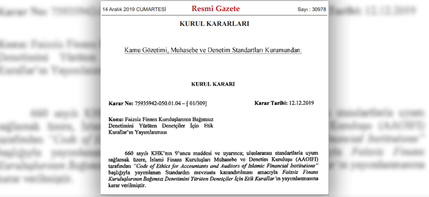 In Official Public Record, Turkey's AKP Government Publishes 'Ethical Rules' For Financial Auditors Citing Quran, Hadiths: 'The Auditor Should Act With The Fear Of Allah'