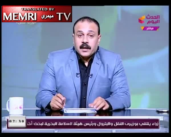 "Holocaust Denial by Egyptian TV Host: It Is the ""Greatest Lie in History""; Gas Chambers Were Used to Disinfect Clothes"