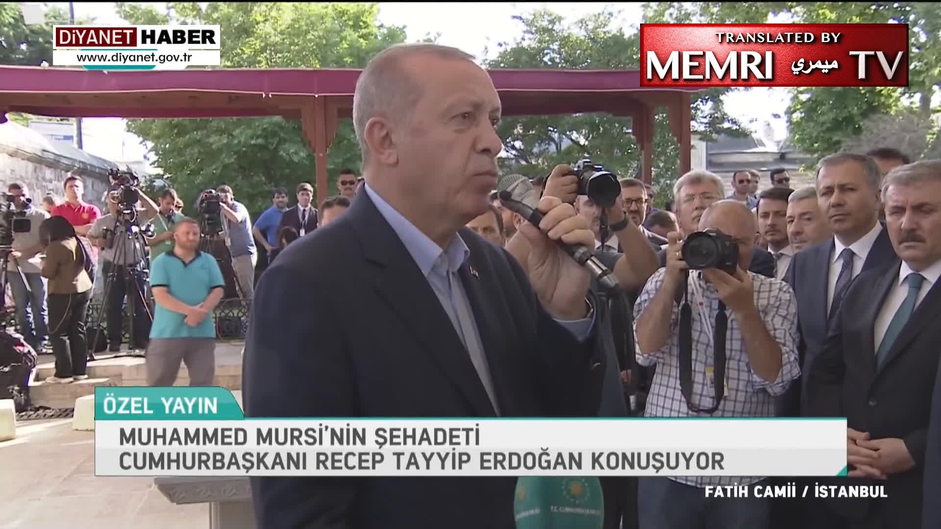 At Turkey Memorial Service for Mohamed Morsi, Crowd Chants Antisemitic Slogans; Turkish President Erdoğan: Morsi Is a Martyr; I Doubt His Death Was Natural