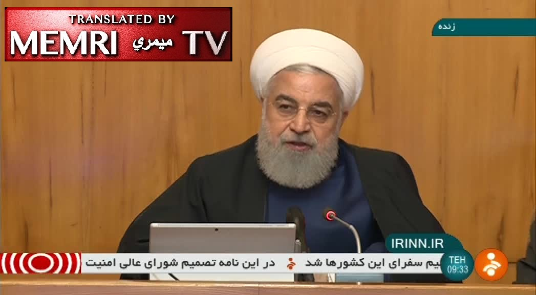 Iranian President Rouhani: Iran Ceasing Sale of Surplus Enriched Uranium, Heavy Water; Cannot Afford to Stop Immigrants from Flooding Europe