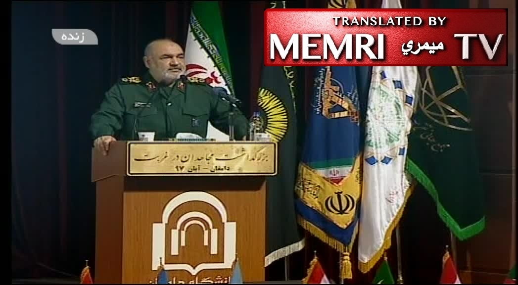 IRGC Deputy Commander Hossein Salami: The Zionists Know Any New War Would Lead to Their Annihilation