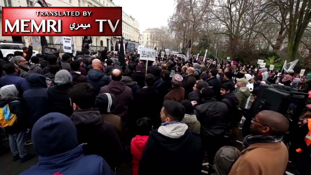 Hizb ut-Tahrir Demonstration Outside Syrian Embassy in London: Calls for Caliphate, U.S.A, You Will Pay!