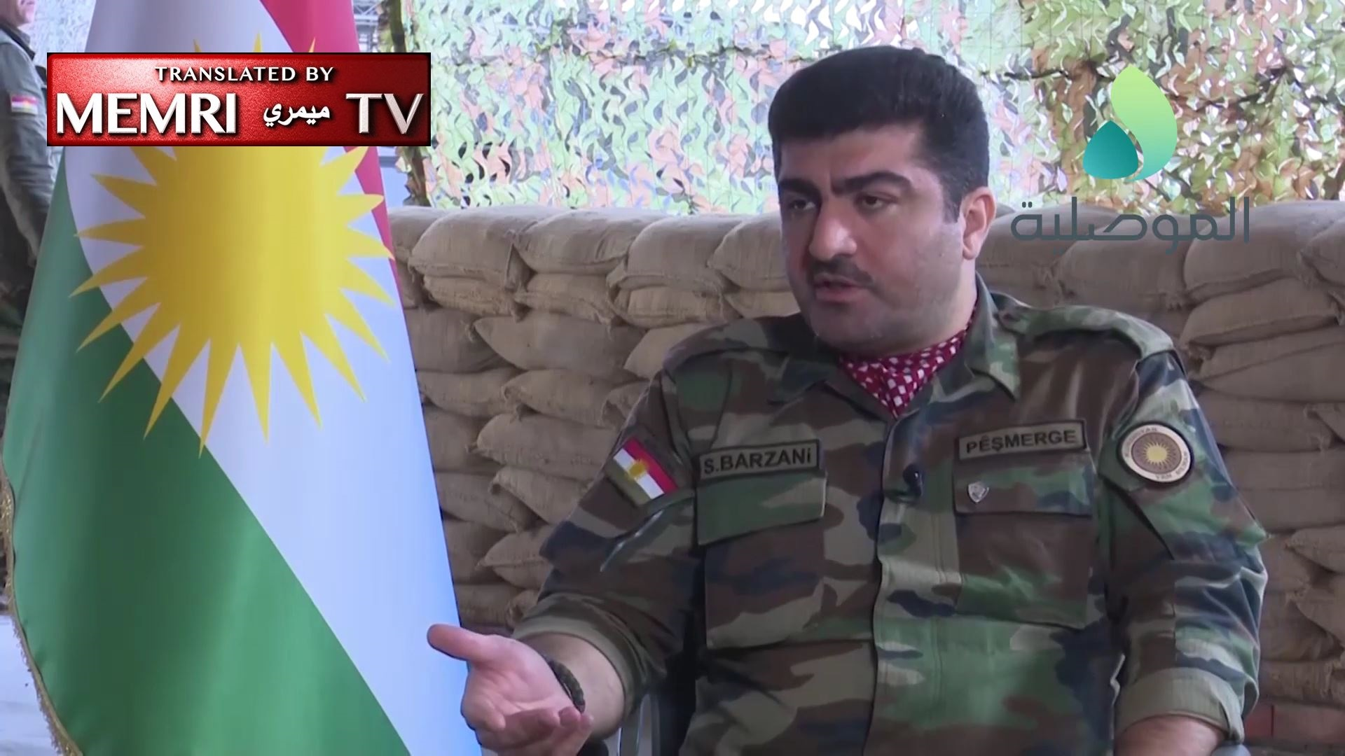 Peshmerga General Sirwan Barzani: Unless Baghdad Changes Its Conduct after Liberation of Mosul, Kurdistan Will Secede from Iraq