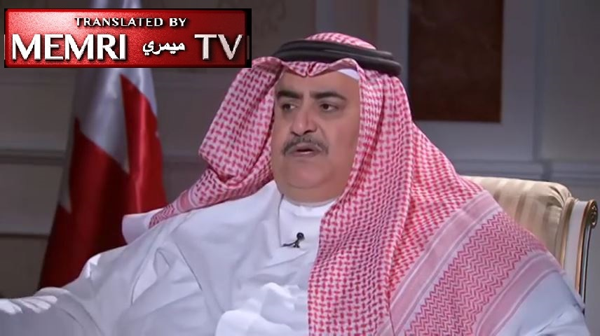 Bahraini FM Khalid Bin Ahmed Al-Khalifa: Iran Must Stop Smuggling Weapons, Experts Into Yemen